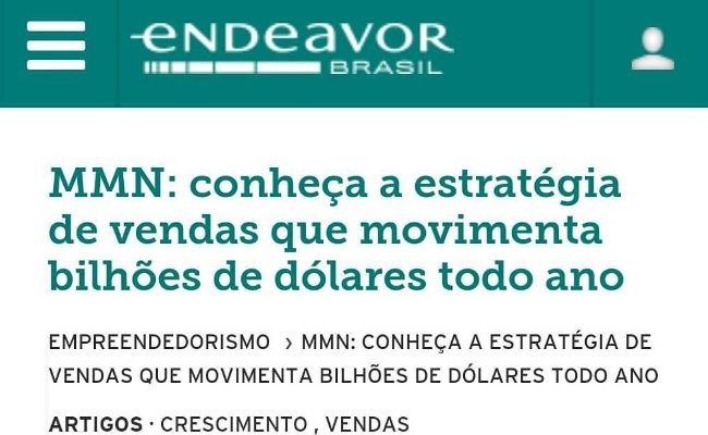 Marketing Multinível é comentado na Endeavor